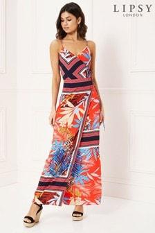 Lipsy Tropical Stripe Maxi Dress