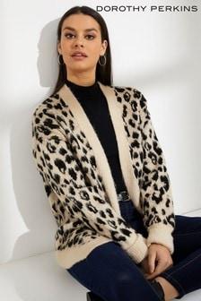 Dorothy Perkins Brushed Leopard Cardigan