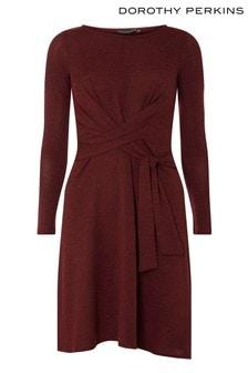 שמלה מוברשת עם קשר של Dorothy Perkins