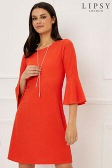 Luźna sukienka Lipsy z naszyjnikiem