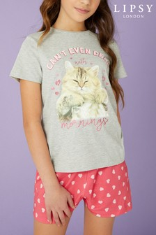 Lipsy Girl Cat PJ Set