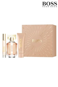 BOSS The Scent For Her Eau de Parfum 50ml, Body Lotion 100ml & Travel Spray 7.5ml Gift Set
