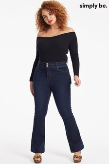 Simply Be Shape & Sculpt Figurformende Bootcut-Jeans