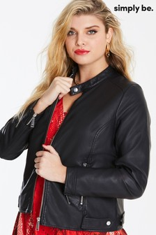 Simply Be Faux Leather Jacket