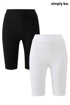 Simply Be 2 Pack Cycling Shorts