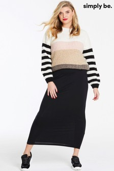 Simply Be Curve Jersey Maxi Tube Skirt