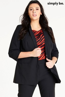 Simply Be Curve Edge To Edge Value Blazer