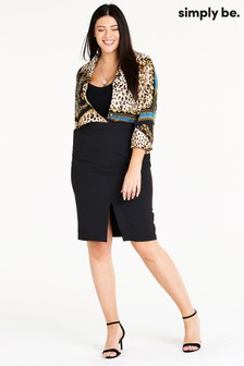 Simply Be Essential Workwear Pencil Skirt