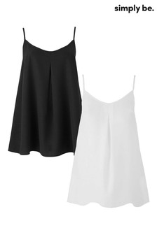 Simply Be Pack of 2 Basic Camis