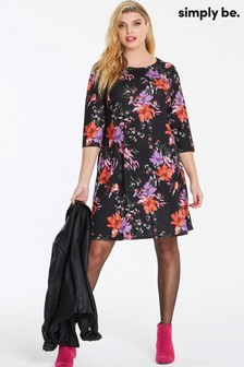 7b8336456d9 Simply Be Curve floral Swing Dress