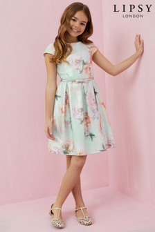 Lipsy Girl Floral Jacquard Dress