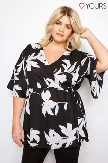 Yours Floral Wrap Top