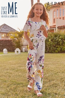 Lipsy Girl Floral Jumpsuit