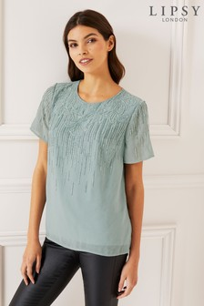 Lipsy Beaded Top