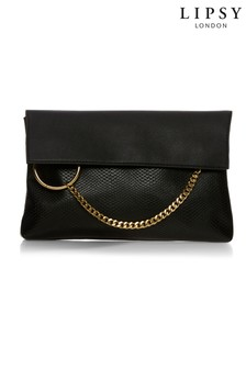 Lipsy Ring Chain Detail Clutch
