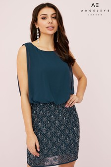 Angeleye Chiffon Embellished Dress