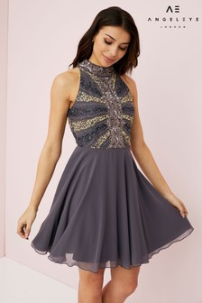 Angeleye Embellished Skater Dress