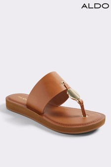 Aldo Beach Leather Sandals With Hardware