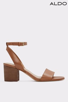 c4cefad53e5e Aldo Leather Block Heel Sandals