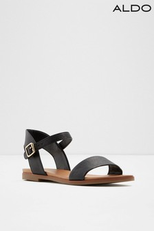 Aldo Flat Two Piece Leather Blend Sandals