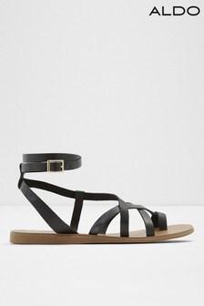 Aldo Strappy Leather Toe Post Sandals