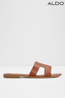 079c8e3975d1 Aldo Flat Cutout Leather Sliders