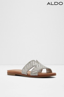 3d677c9afaf Aldo Flat Cutout Leather Embellished Sliders