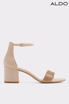 Aldo Two-Piece Leather Embellished Sandals