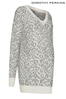 Dorothy Perkins Maternity Snow Leopard Jumper