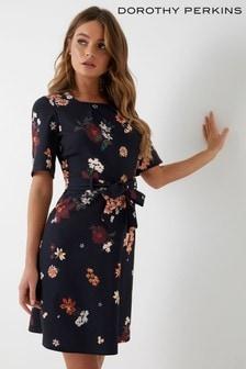 Rozkloszowana sukienka Dorothy Perkins Petite Scuba w kwiaty