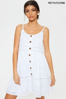 PrettyLittleThing Button Detail Dress