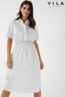 שמלת חולצה מידי של Vila