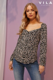 Vila Square Neck Top