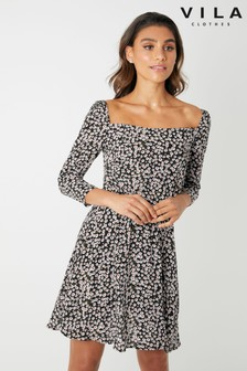 Vila Square Neck Dress