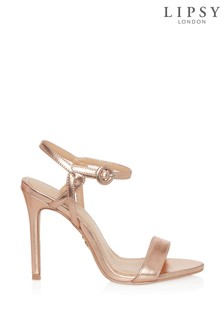 Lipsy Covered Buckle Barely There Heels