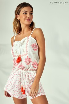 07579c77fcb South Beach Block Print Playsuit