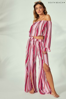 South Beach Printed Slit Co-ord Trousers