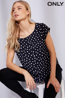 Only Short Sleeve Printed Top