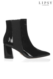 Lipsy Patent Point Ankle Boots