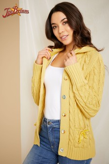 Joe Browns Cable Knit Hooded Cardigan