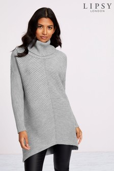 Lipsy Step Hem Cowl Neck Jumper