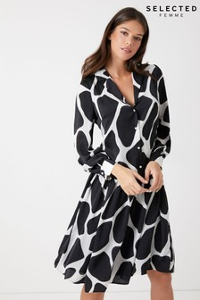 Selected Femme Long Sleeve Shirt Dress