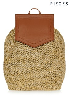 Pieces Straw Backpack