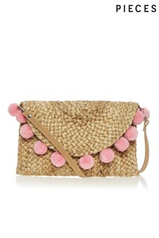 Pieces Straw Clutch