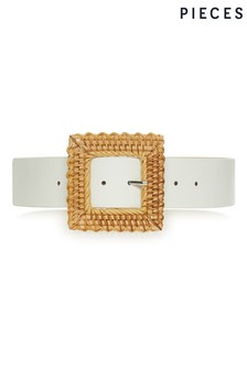Pieces Woven Buckle Waist Belt