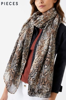 Pieces Snakeskin Scarf