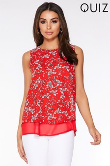 Quiz Floral Print Swing Top