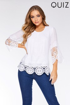 Quiz Lace Trim Top