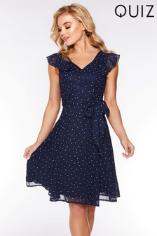 Quiz Polka Dot Skater Dress