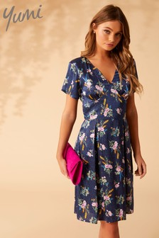 Yumi Floral On Spot Tunic Dress